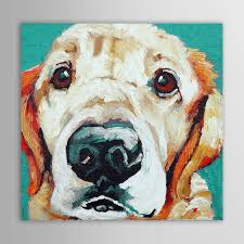 dog wall art hand painted oil painting animals pets dog wall art canvas