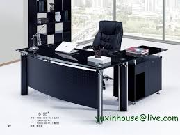 Glass Office Furniture Desk Tempered Glass Office Desk Desk Table Commercial Office
