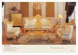 living room furniture online classic furniture sofa set all golden solid wood living room