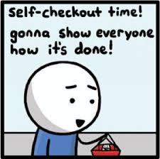 Self Checkout Meme - invisible bread self checkout