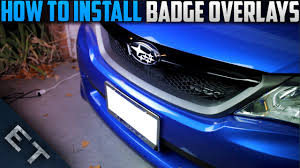 subaru wrx logo how to install custom badge overlays subaru wrx sti youtube