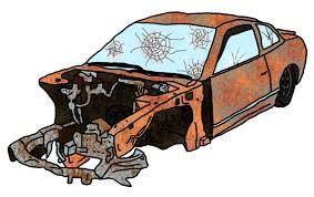wrecked car clipart car wreck by dragonbarnesz on deviantart