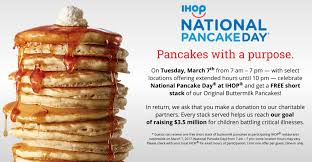 get free pancakes from ihop for national pancake day dwym