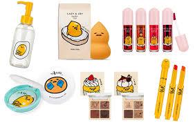 gudetama x holika holika makeup collection cute travels
