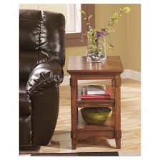 Ashley Furniture Side Tables Cross Island Chair Side End Table Medium Brown Signature Design