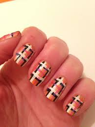 plaid nail design beginnersnailart u0027s blog