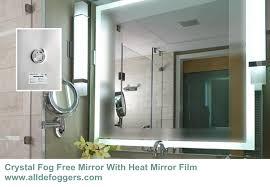 bathroom mirror defogger anti fog bathroom mirror peaceful design ideas anti fog bathroom
