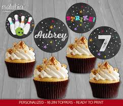custom cupcake toppers bowling cupcake toppers bowling 16 custom cupcake toppers