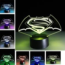 best light for sleep boy gift kid sleep light led stereo light touch superman gradient 3d