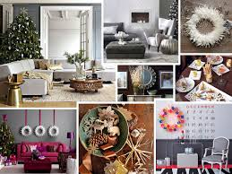 interior terrific christmas interior using white leather sofa