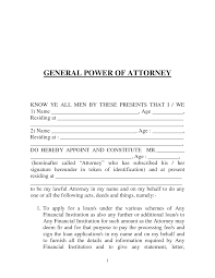 Durable Financial Power Of Attorney Form by Power Of Attorney Template Cyberuse