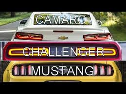 challenger camaro mustang 2016 camaro vs challenger vs mustang