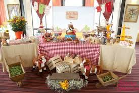 country baby shower ideas boy s cowboy themed baby shower party dessert table decor ideas