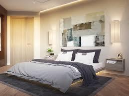 bedroom double bed desk blue nightstands master bedroom lighting