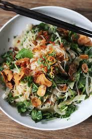 rice noodle salad with fennel herbs u0026 fried shallots u0026 garlic
