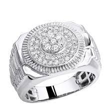 diamond man rings images Shop luxurman pinky rings 0 9ct 10k gold diamond ring for men jpg
