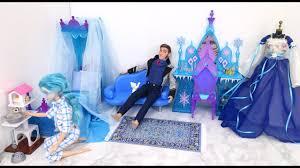 Frozen Elsa Bedroom Frozen Elsa Doll Bedroom Morning Routine U0026hans إلسا غرفة نوم روتين