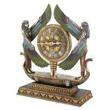 ancient egyptian home decor shop design toscano wings of isis analog round indoor tabletop