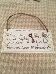 personalized wedding plaque personalised wedding plaque wedding civil partnership by