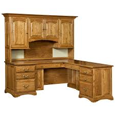 Wood Corner Desk With Hutch Mannington Corner Desk Hutch Top Shipshewana Furniture Co