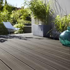 photo terrasse composite planche composite grafik 2 noir anthracite l 240 x l 18 6 cm x