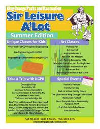 spirit halloween fredericksburg va summer 2016 king george va parks u0026 recreation brochure by