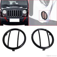 jeep wrangler black lights 2017 2x black light guard front turn signals steel cover for 2007