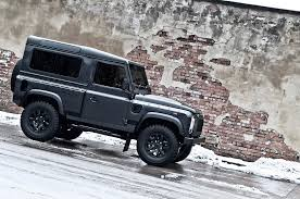 mercedes land rover matte black kahn land rover defender military edition with wide body kit