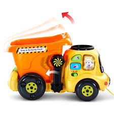 amazon com vtech drop and go dump truck online exclusive toys