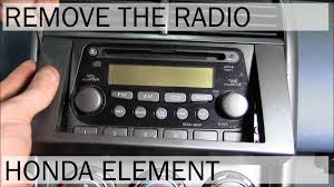 New Honda Element 2015 Honda Element Radio Removal Youtube