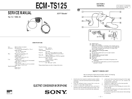 sony ecm ts125 ver 1 0 sm service manual download schematics