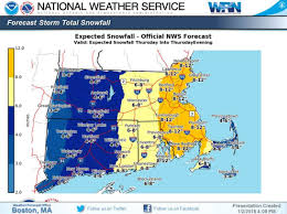 Snowfall Totals Map 4 Pm Update Thursday U0027s Projected Snow Totals Doubled The