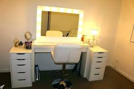 makeup vanity table with lighted mirror ikea vanity table with lighted mirror freeiam