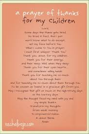 a prayer of thanks for my children tired lord and