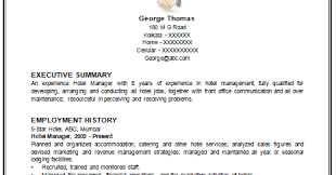 Sample Resume For Hotel Manager by Sample Resume Of Hotel And Restaurant Management Graduate Resume
