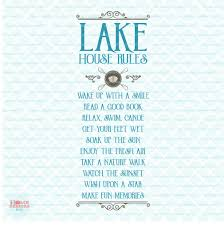 Family House Rules by Lake House Rules Svg Family Summer Vacation Sign Svg Lake Life
