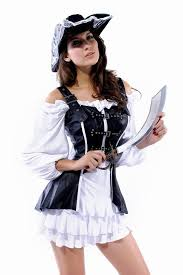 Pirate Woman Halloween Costumes Womens Black Leather Corset Pirate Halloween Costume