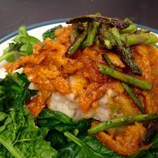 thanksgiving soy curls with vegan jamaican soy curls in curried tomato cream sauce the
