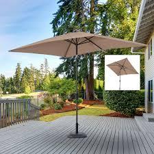 Rectangle Patio Umbrella Outsunny 6 5 X 10 Market Rectangle Patio Umbrella W Tilt And