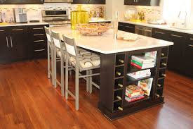 Two Tone Wood Floor Kitchen Island With Seating And Stove Kitche Hood Two Tone Kitchen