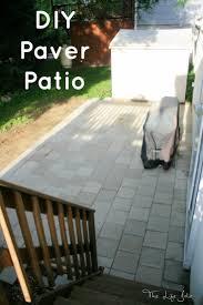 how to install paver patio diy paver patio