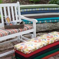 outdoor dining bench cushion scrolled pattern bench cushion cover
