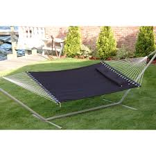 Bliss Hammock Stand Bliss Hammocks Quilted Double Hammock With Pillow Hayneedle