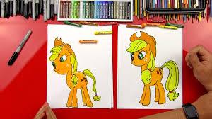 how to draw applejack art for kids hub