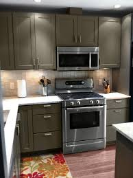 Painting Kitchen Laminate Cabinets Brilliant Painted Cabinets T On Design Ideas