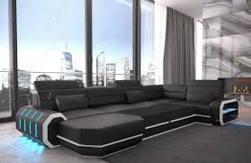 Sectional Sofa With Bed by Leather Sectional Sofa Brooklyn U Shape
