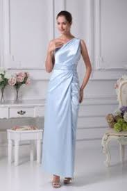 grey strapless floor length empire mother of the groom dresses in