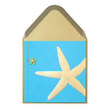 gold starfish blank cards papyrus