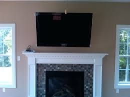 mounting lcd tv brick fireplace install above pt 1 mount hide wires