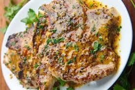 cuisiner cote de porc facile de côtelettes de porc miel et moutarde